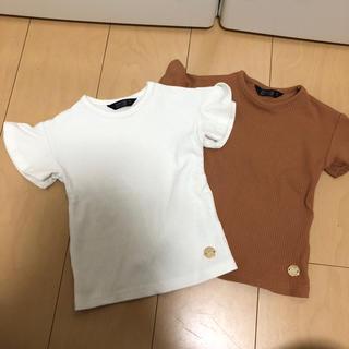 シマムラ(しまむら)のリブ フリル Tシャツ  女の子 子供服 90(Tシャツ/カットソー)