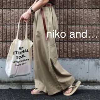 ニコアンド(niko and...)のniko and…ウエスト調整可能 チノ バギーパンツ(バギーパンツ)