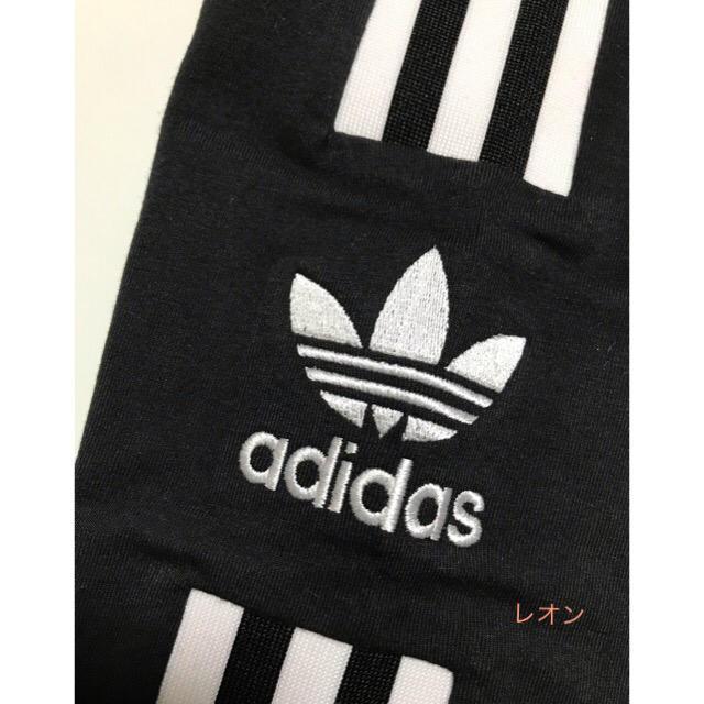 adidas(アディダス)の【レディースM】黒  トレフォイル 3ライン  レギンス     レディースのレッグウェア(レギンス/スパッツ)の商品写真