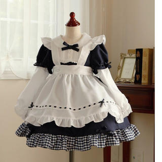 55880f05622c7 キャサリンコテージ(Catherine Cottage)のネイビー ドレスワンピース アリス メイド風(ドレス