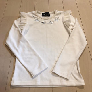 シマムラ(しまむら)の女の子   ビジュー付きカットソー   130(Tシャツ/カットソー)
