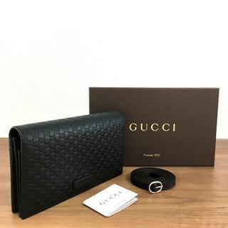 02cf256e9501 グッチ(Gucci)の未使用品 グッチ ショルダーウォレット ブラック マイクロシマ 172(
