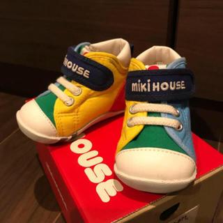 ミキハウス(mikihouse)の靴 ミキハウス ベビー ファーストシューズ 11.5 12 サックス(その他)