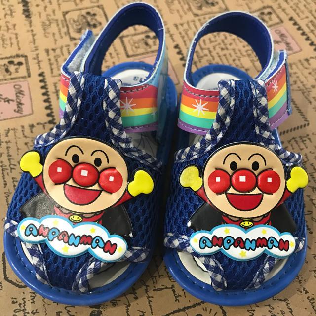 アンパンマン(アンパンマン)のアンパンマン サンダル青 13㎝ キッズ/ベビー/マタニティのベビー靴/シューズ(~14cm)(サンダル)の商品写真