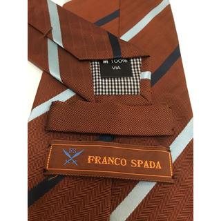 ナノユニバース(nano・universe)のフランコスパダ(Franco Spada)  ブラウンストライプネクタイ(ネクタイ)