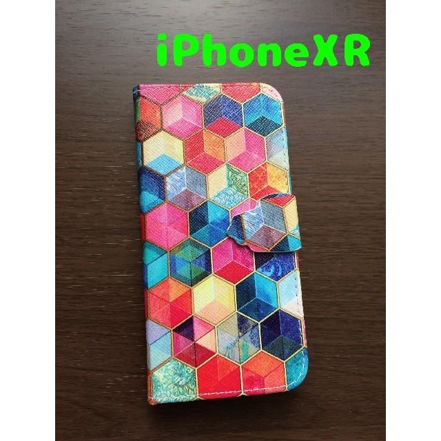 739b317067 キューブカラー手帳型アイフォンXRケースの通販 by スマホケース&アクセshop|ラクマ