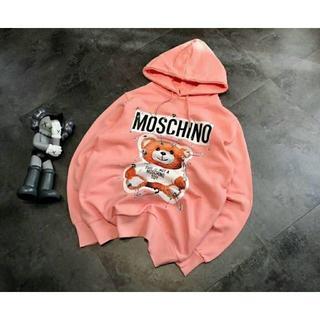MOSCHINO - モスキーノパーカー モスキーノトレーナー クマパーカー ピンク