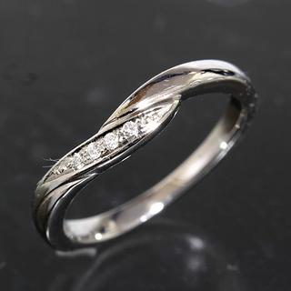 ヨンドシー(4℃)の4℃ ダイヤモンド プラチナ デザイン リング 6号 pt950 新品仕上済(リング(指輪))