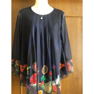 デシグアル(DESIGUAL)のデシグアルの裾花柄シフォンブラウス✨ふんわりAライン(シャツ/ブラウス(長袖/七分))