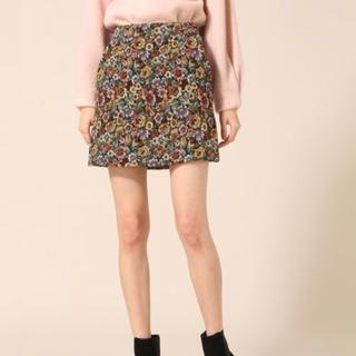 ローリーズファーム(LOWRYS FARM)の花柄 ミニスカート(ミニスカート)