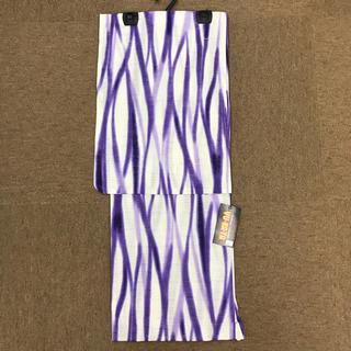 浴衣 仕立て上り 立枠 綿 パープルボカシ 絽目(浴衣)