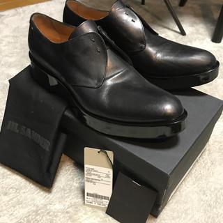 【極上品】現行品 JIL SANDER ブーツ 42 定価17万 厚底 牛革 黒