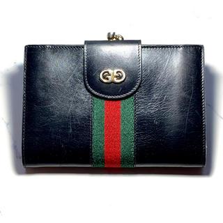 585a6b70e7e8 グッチ(Gucci)のGUCCI オールドグッチ シェリーライン 本革 二つ折財布 がま口
