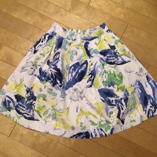 ダズリン(dazzlin)のdazzlin 水彩柄ボリュームスカート(ひざ丈スカート)