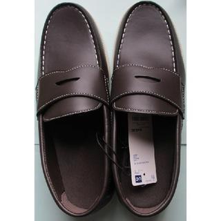 ジーユー(GU)の新品 GU メンズ ローファー ブラウン 25㎝ ジーユー 茶色 スリッポン(ローファー/革靴)