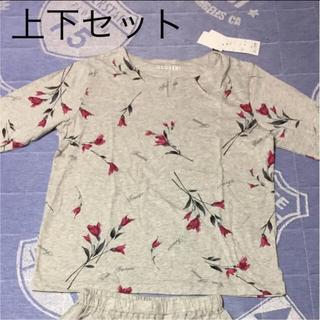 シマムラ(しまむら)のCLOSSHI パジャマ 部屋着 ルームウェア グレー 花柄(ルームウェア)