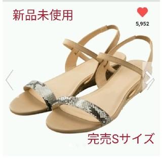 ジーユー(GU)の新品★完売品★gu ジュートローウェッジサンダル★Sサイズ(サンダル)