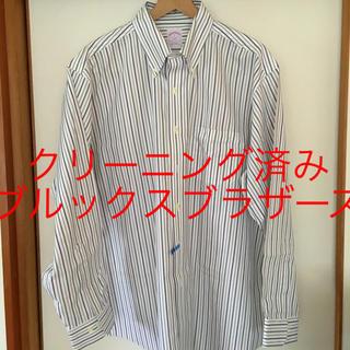 ブルックスブラザース(Brooks Brothers)の美品です!ブルックスブラザーズ ストライプ コットン ドレスシャツ(シャツ)