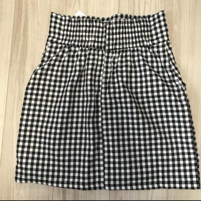 one after another NICE CLAUP(ワンアフターアナザーナイスクラップ)のギンガムチェックスカート NICE CLAUP レディースのスカート(ミニスカート)の商品写真