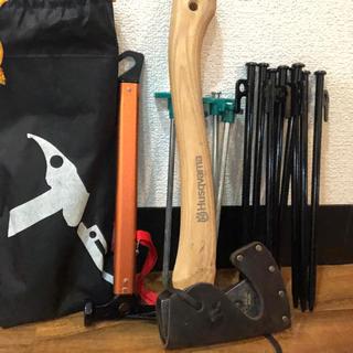 モンベル(mont bell)のハスクバーナ キャンプ用斧  ペグ ペグハンマー(テント/タープ)