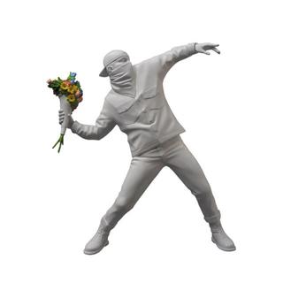 MEDICOM TOY - medicom toy banksy flower bomber スタチュー 白
