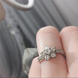 保証書付 プラチナ ダイヤモンド リング 大幅お値下げ(リング(指輪))