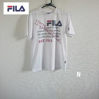 フィラ(FILA)のFILA メンズ吸水速乾DRY半袖ロゴTシャツ スポーツ運動 Mサイズ(Tシャツ/カットソー(半袖/袖なし))