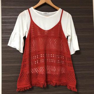 しまむら - しまむら キャミソール&Tシャツセット Mサイズ 美品