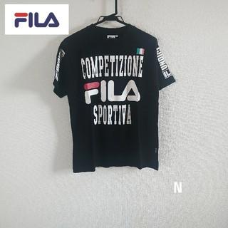 フィラ(FILA)の【新品未使用】FILA メンズ半袖ロゴTシャツ ブラック Mサイズ(Tシャツ/カットソー(半袖/袖なし))