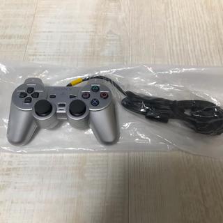 プレイステーション2(PlayStation2)の新品未使用 PS2 純正コントローラー デュアルショック2シルバー 専用(家庭用ゲーム本体)