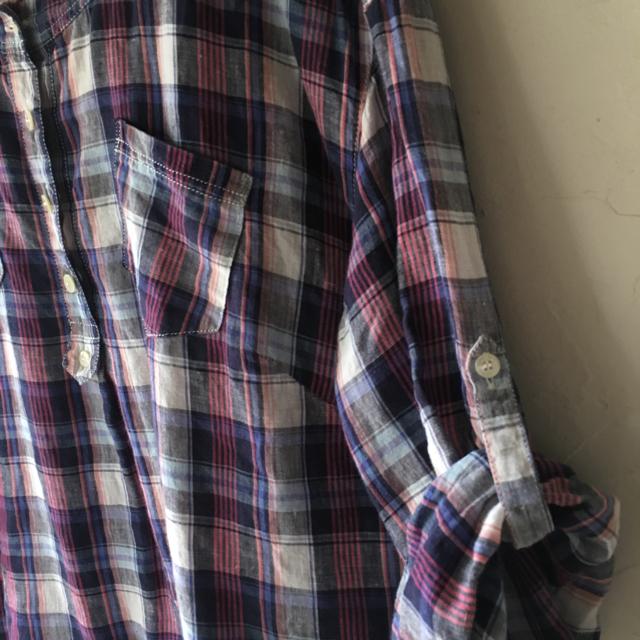 LA MARINE FRANCAISE(マリンフランセーズ)のマリンフランセーズ ♪リネンシャツ レディースのトップス(シャツ/ブラウス(長袖/七分))の商品写真