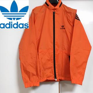 アディダス(adidas)のアディダスオリジナルス デサント ウインドブレーカー オレンジ Mサイズ(ナイロンジャケット)