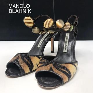マノロブラニク(MANOLO BLAHNIK)の正規品 マノロブラニク アンクルストラップ サンダル(サンダル)
