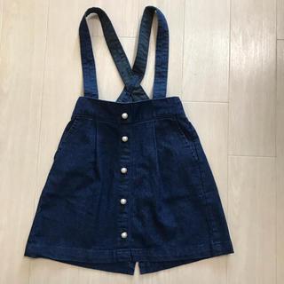 プティマイン(petit main)のプティマイン デニムサロペットスカート タグ付き未使用 100(スカート)
