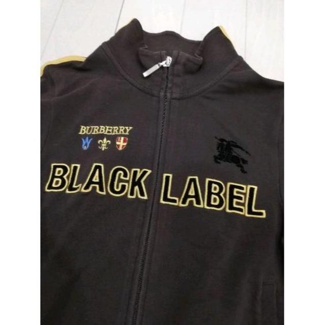 BURBERRY BLACK LABEL(バーバリーブラックレーベル)の希少★バーバリーブラックレーベル★ビッグロゴ入りジップアップ★ メンズのトップス(スウェット)の商品写真
