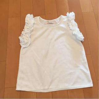 シマムラ(しまむら)の新品 肩フリルノースリーブ(カットソー(半袖/袖なし))