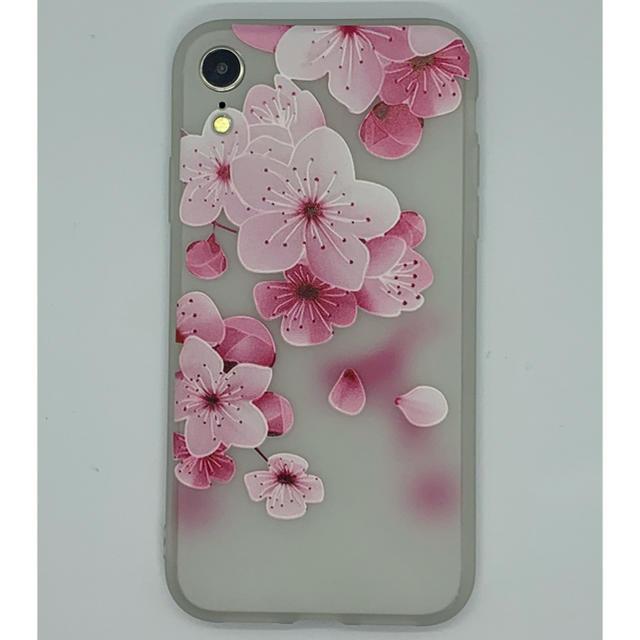apple ケース iphone8 | iPhoneXR用 3D花柄ソフトケース ホワイト-Bの通販 by WJSHOP|ラクマ