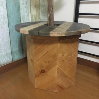 木製 鉢カバー 8号 テーブル付き(プランター)