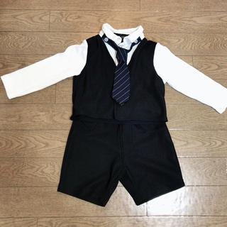 2ec2f07b405af ベビーフォーマル♪スーツ70cmグレータキシード、ロンパース、長袖、蝶 ...