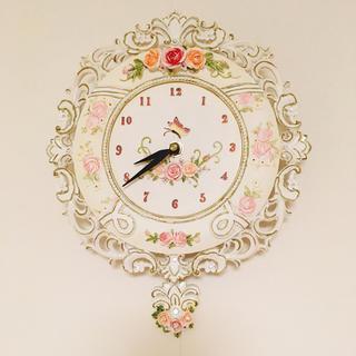 フランフラン(Francfranc)のアンティーク調の振り子時計(掛時計/柱時計)