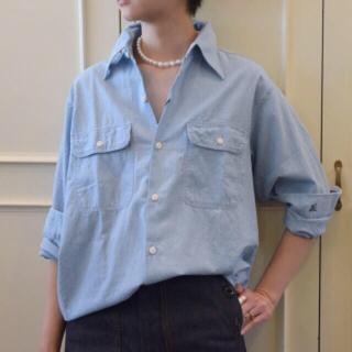 マディソンブルー(MADISONBLUE)のマディソンブルーハンプトンシャンブレーシャツ(ライトインディゴ・サイズ01)(シャツ/ブラウス(長袖/七分))