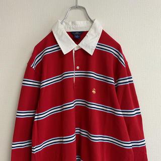 ブルックスブラザース(Brooks Brothers)の美品 Brooks Brothers 346 ラガーシャツ ボーダー(シャツ)