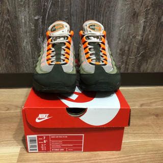 ナイキ(NIKE)のairmax95 og total orange 25cm(スニーカー)