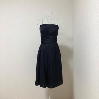 d41240792a334 エメ(AIMER)のaimer エメ 編み上げ ドレス ワンピース ネイビー 9号(ミディアムドレス
