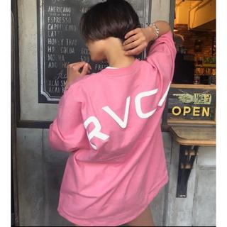 ルーカ(RVCA)のrvca アーチロゴ ビックt XSサイズ ピンク (Tシャツ/カットソー(半袖/袖なし))