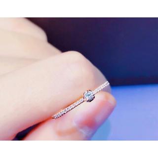 新品 ダイヤモンド リング  K18 ピンクゴールド(リング(指輪))