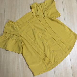 ジーユー(GU)のGU スクエアネック 半袖 ブラウス(シャツ/ブラウス(半袖/袖なし))
