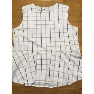 ジーユー(GU)のGU  ノースリーブブラウス  XXL(シャツ/ブラウス(半袖/袖なし))