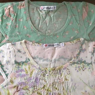 フランシュリッペ(franche lippee)のユニクロ フランシュリッペ コラボ Tシャツ ワンピ 110 キッズ(Tシャツ/カットソー)