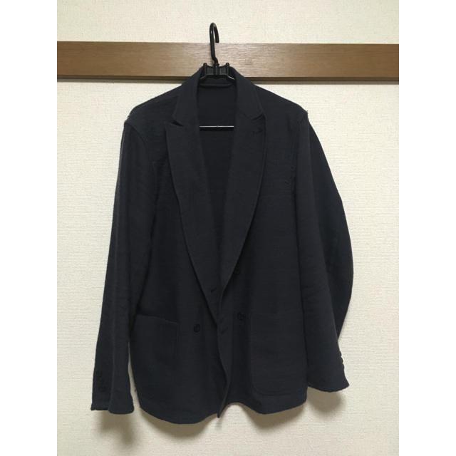 COMOLI(コモリ)の(訳あり) COMOLI コモリ ウールリネンWブレスト ジャケット グレー  メンズのジャケット/アウター(テーラードジャケット)の商品写真